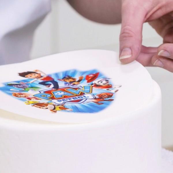 Формирование макета для печати + печать на вафельной бумаге (1 лист А4)