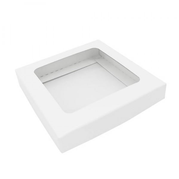 Коробка для шоколадной плитки (белая) 100*100*17 мм