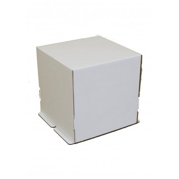 Коробка для торта (белый картон) 240*240*260 мм