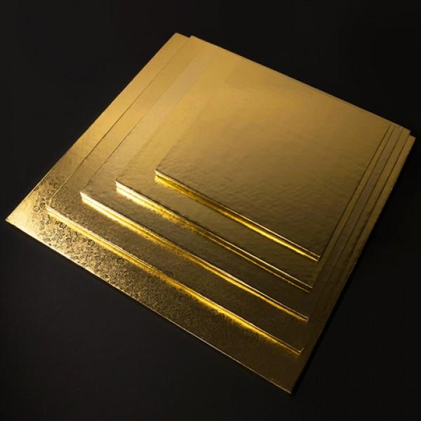 Фольгированная подложка КВАДРАТ, 25*25 см, толщина 11 мм, золото