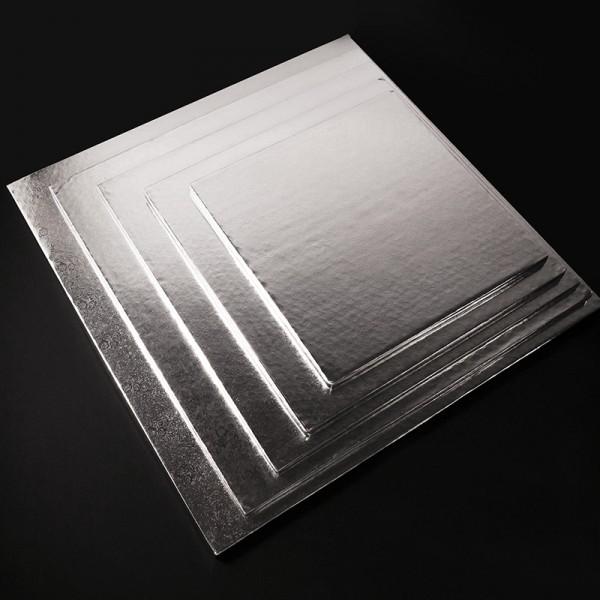 Фольгированная подложка КВАДРАТ, 25*25 см, толщина 11 мм, серебро