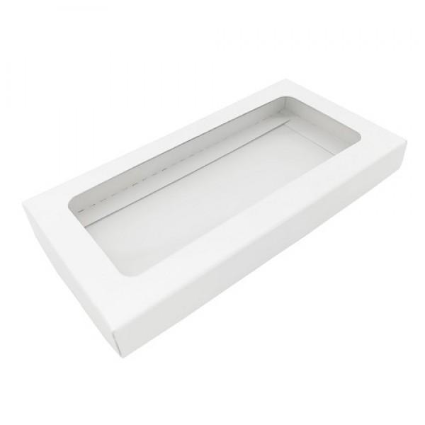 Коробка для шоколадной плитки (белая) 180*90*17 мм