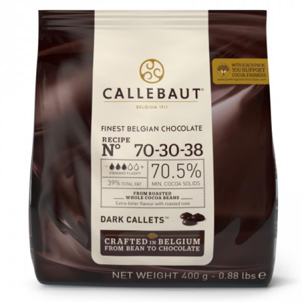 Горький шоколад 70,5% в каллетах, пакет 400 гр. Callebaut Бельгия