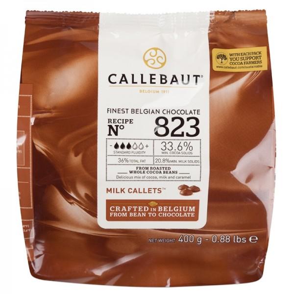 Молочный шоколад 33,6% в каллетах, пакет 400 гр. Callebaut Бельгия