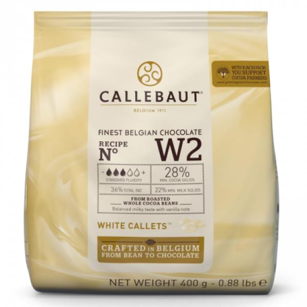 Белый шоколад 28% в каллетах, пакет 400 гр. Callebaut Бельгия