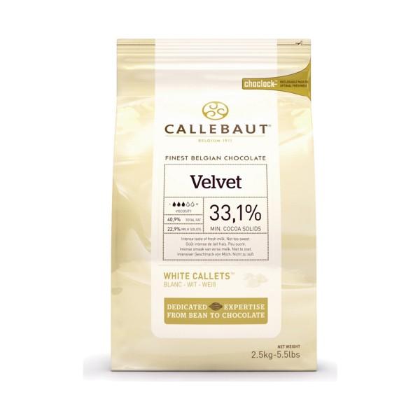 Белый шоколад VELVET 33,1% в каллетах, 2,5 кг, Callebaut Бельгия