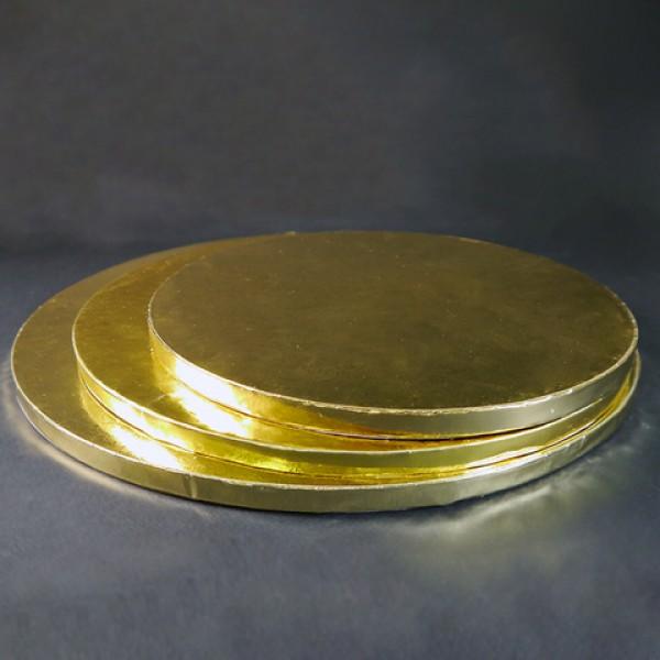 Фольгированная подложка КРУГ, диаметр 30 см, толщина 11 мм, золото