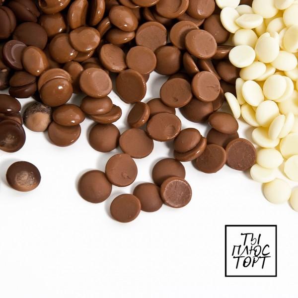 Белый шоколад Belcolade 29,5% в дисках, 250 гр. Бельгия