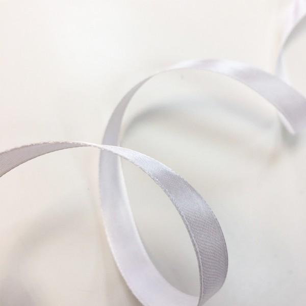 Атласная лента Белая (12 мм) 27 м