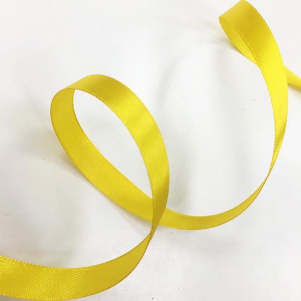 Атласная лента Желтая (12 мм) 27 м