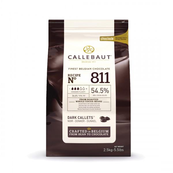 Темный шоколад 54,5% в каллетах, 2,5 кг, Callebaut Бельгия