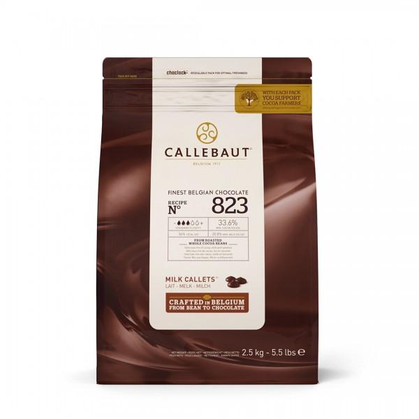 Молочный шоколад 33,6% в каллетах, 2,5 кг, Callebaut Бельгия
