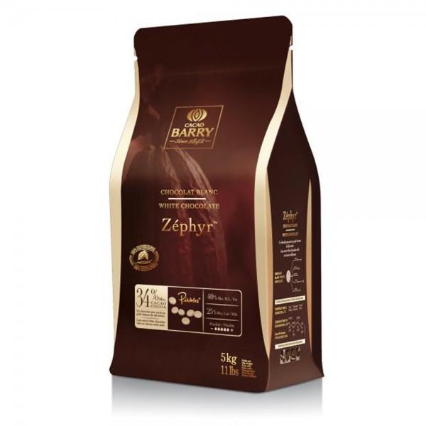 Белый шоколад ZEPHYR 34% в дисках, 1 кг, Cacao Barry Франция