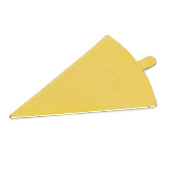Подложка Золото (0,8 мм) Треугольник с держателем 120*90 мм