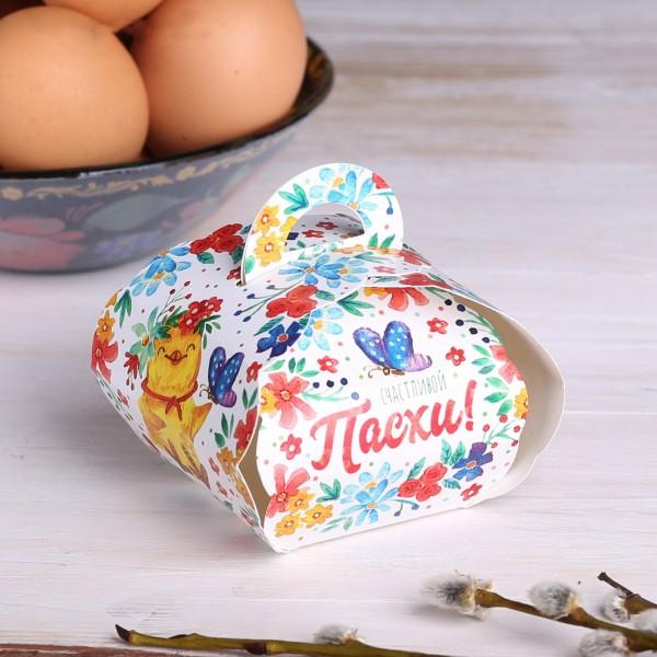 """Коробочка подарочная для яйца """"Счастливой Пасхи!"""" 25*30 см"""