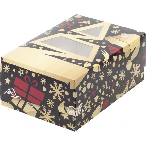 """Коробка для 6 капкейков """"Елка"""", с окном, 235*160*100 мм"""
