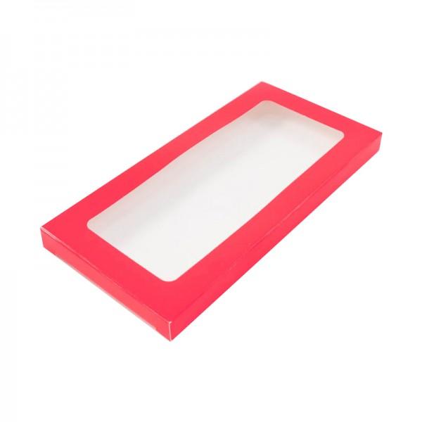 Коробка для шоколадной плитки (красная) 180*90*14 мм