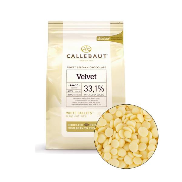 Белый шоколад VELVET 33,1% в каллетах, 100 гр. Callebaut Бельгия