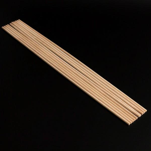 Палочки деревянные для укрепления ярусов 40 см, диаметр 5 мм, набор 10 шт.