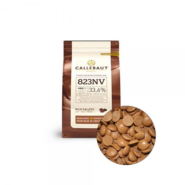 Молочный шоколад 33,6% в каллетах, 100 гр. Callebaut Бельгия