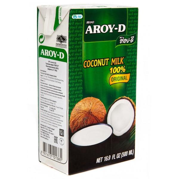 Молоко кокосовое AROY-D 17-19% Tetra Pak 500 мл